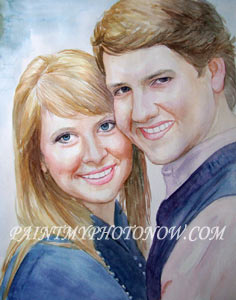 Watercolor art of couple