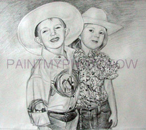 Drawn cowboy picture