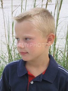 Picture of boy near river