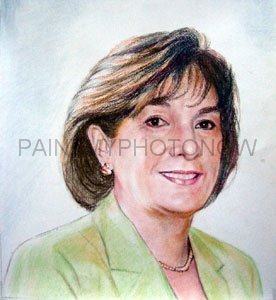 Business portrait in pastel