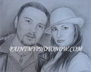 Charcoal drawing from photo