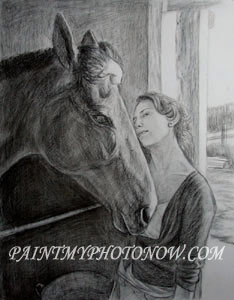 Women with Horse Paintings