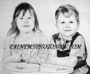 Children Charcoal drawings