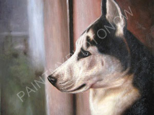 Artist did this pet portrait with small size picture