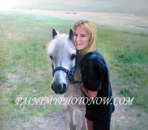 Girl with Horse Paintings