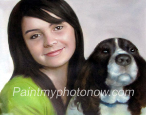 Women with Pet Paintings