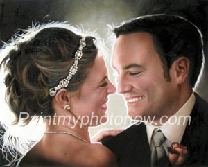 Wedding paintings from photos