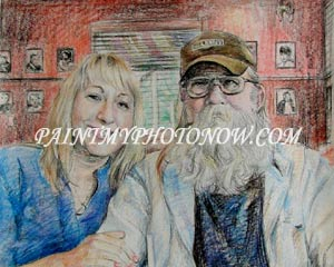 Couple Color Pencil Drawing