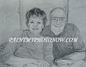 Pencil drawing from photo