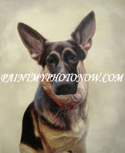 Dog Photographs to Paintings