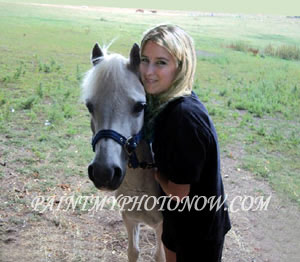 Girl with Horse Photos