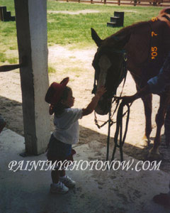Child with Horse Photos