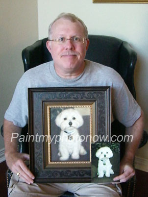 William Zolman with puppy portrait