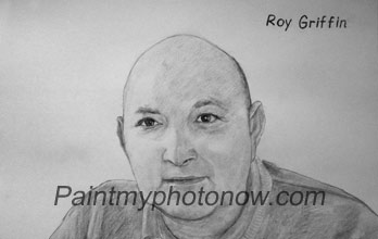 name drawn on charcoal drawing