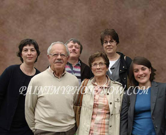 Photo of six members family